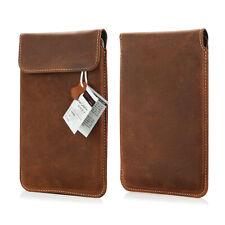 e book reader  Echt Leder Tasche für Tolino Vision 4 HD Etui Slim Case Braun
