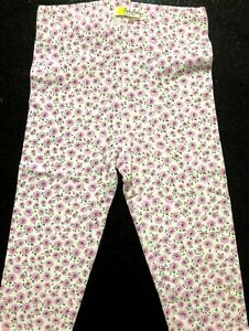 New Baby Boden Gorgeous Lilac Floral Girls pretty trimmed Leggings Ages 0-2 yrs