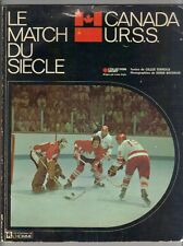 Canada / USSR vintage 1972 Hockey pictures book , le Match du Siecle ,