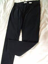 ORIG. bonita-elegante schw. jeans con elastano y detalles talla 42 nuevo