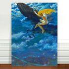 "Edward Robert Hughes, Dream Idyll Pegasus ~ FINE ART CANVAS PRINT 24x18"""