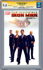 IRON MAN #1 CGC-SS 9.4 MOVIE VARIANT PHOTO COVER 1:100 SIGNED MATT FRACTION 2008