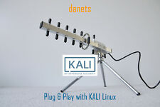 2200mW USB-Yagi TurboTenna WiFi antenna PLUG and PLAY with KALI LINUX BACKTRACK6