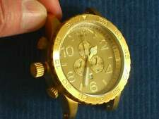 NIXON 51-30 CHRONO/ALL GOLD/Watch ONLY/BRAND NEW/Replacement Watch/No Band