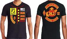New USMC Marine Corps Marathon Black Finisher Cotton T Shirts  Size S,M,or L