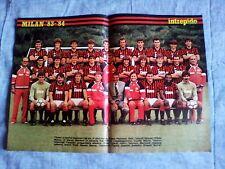 Poster da collezione MILAN 1983/84 Baresi, Gerets, Blisset, Evani, Galli....1983