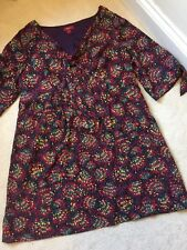 Monsoon Dress.Size 22. Fully Lined. Multi Pattern. Immaculate Condition.