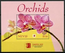 Nevis 2019 MNH Orchids Orchid Singpex 1v S/S Flowers Flora Nature Stamps