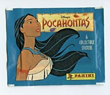 1995 Panini Disney's Animated POCAHONTAS Cartoon STICKER 6 PACK! RARE 90's Fleer