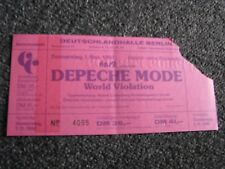 Depeche Mode- altes Ticket-01.11.1990-World Violation Tour- alte Konzertkarte