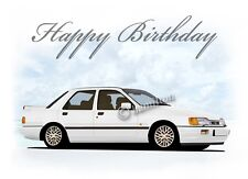 Ford Sierra Sapphire RS Cosworth 18th 21st 40th 50th PERSONALISED Birthday Card