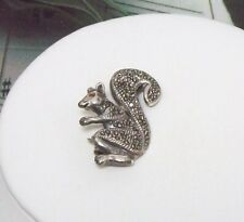 "Marcasite Squirell Brooch Pin 1 1/4"" Long. MARC0037"