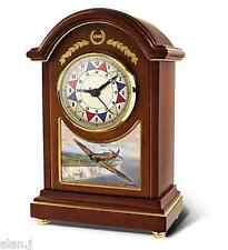 RAF Spitfire Aircraft  Carriage clock  Defending The Realm