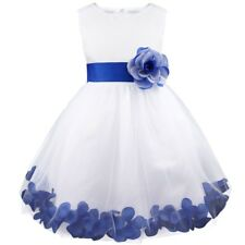 Pageant Petals Flower Girl Princess Dress Kid Baby Party Wedding Formal Carnival