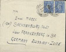 England Airmail Letter (2 x 202) Burnham after Sachsenburg 26. 4. 47 (845040)