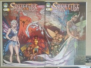 Soulfire Dying Of The Light 1 SIGNED Michael Turner Connecting Variant Set COA
