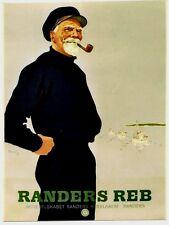 Original vintage poster RANDERS SHIP ROPES SAILOR FISHERMEN 1949