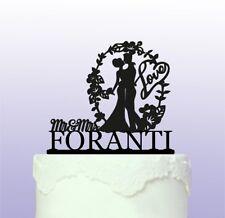 Romántico Personalizado de boda Cake Topper