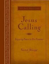 Jesus Calling Large Print Deluxe Edition Amber Imitation Leather by Sarah Young