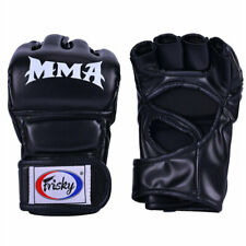 Leather Boxing MMA Gloves Fist Sparring Kick Thai Gym Punching Bag Half Mitt UFC