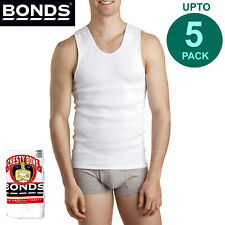 Bonds Multi Pack White Mens Chesty Cotton Singlet Vest Tank Top Undergarment