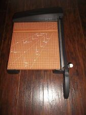 """X-ACTO 12"""" HEAVY-DUTY WOOD BASE PAPER CUTTER/TRIMMER ~ NEW WITHOUT BOX!"""