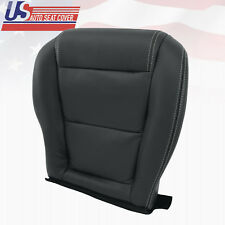 2001-2006 Acura MDX Driver Lower Perforated Leather Seat Cover in Shade Ebony