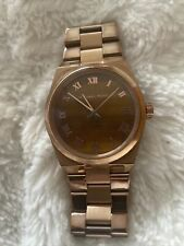 Michael KORS  Ladies Watch - Rose Gold/ Tigers Eye Face - NEEDS NEW BATTERY