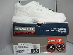 Skechers Womens Size 8.5 W Dighton-Bricelyn Slip Resistant Work Sneakers Shoes