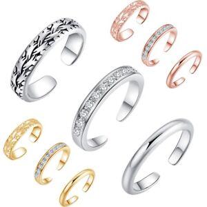 3PCS Toe Ring Adjustable Band Womens Finger Open Foot Beach Retro Body Jewellery