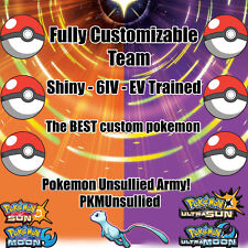 Pokemon Custom 6IV Shiny Team Guide Battle Ready Ultra Sun/Ultra Moon / Sun/Moon