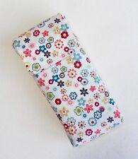 Handmade poche tissu sac. flora tissu de coton. facile d'ouverture.