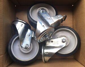 Manfrotto 374-10 Braked Castor Wheel Set - Heavy Duty - 160mm Diameter