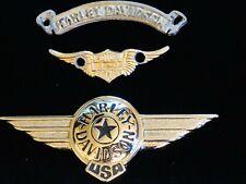 Harley-Davidson Fatboy Winged Emblems Badges Emblem Badge & Curved Script Plate