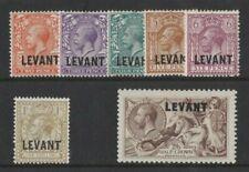 1921 British Levant SG L 18/24 Set 7 MLH