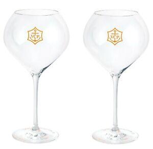 Veuve Clicquot VCP RICH Champagne Glasses x 2 (Acrylic)