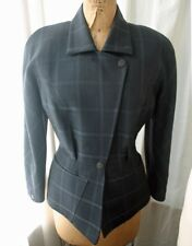 Vintage THIERRY MUGLER Plaid Belted Jacket 80s