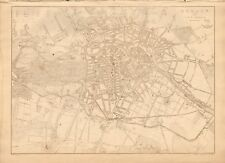1863  LARGE ANTIQUE MAP - DISPATCH ATLAS- GERMANY, CITY PLAN, BERLIN AND ENVIRON