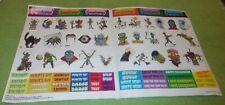 Vintage Goosebumps Sticker Sheet Horror Calendar 1994 Parachute Press Halloween