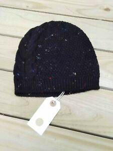Nil. Side Cable Knit Beanie Hat In Black Nepp / Was Selling At Anthropologie