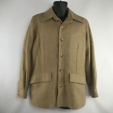 Vintage 70s Tweed Wool Sport Coat Mens 40 Jacket Blazer Hunting Mod