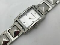 Rebecca Minkoff Women Watch Silver Tone Analog Wrist Watch Water Resistant 30M
