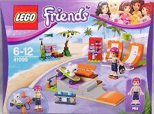 Lego Friends 41099 Skaterpark Mia Hund Skateboard Radio Getränkeautomat NEU
