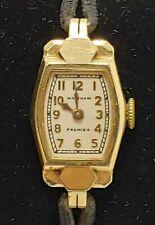 Vintage Waltham Premier Ladies Watch 14K solid Gold Bezel