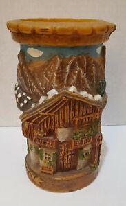 "Vintage Walldurn Kerze Baden Johann Gunter German Carved Candle. 7"" Tall"