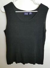 Hilard & Hanson Womens 3X Black Sweater Ribbed Sleeveless Stretch BWT