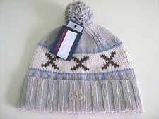 KAPPA cuffia berretto in lana lavorazione spessa fantasia nordica mis L