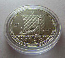 1985 1oz Platinum Isle of Man Noble Coin