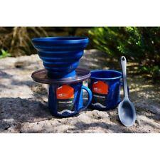GSI Outdoors Enamel Coffee Kit - Collapsible Java Drip + 2 Mugs + Spoon!