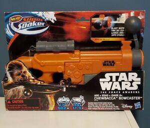 NERF Star Wars The Force Awakens Super Soaker Chewbacca Bowcaster NEW!